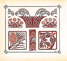 Maurice Verneuil Georges Auriol Alphonse Mucha Art Deco Nouveau Patterns Combinaisons Ornementalis 0006 by wetdryvac