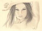 """Those Eyes"" Colour Pencil Artwork by John D Moulton"