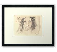 """Those Eyes"" Colour Pencil Artwork Framed Print"