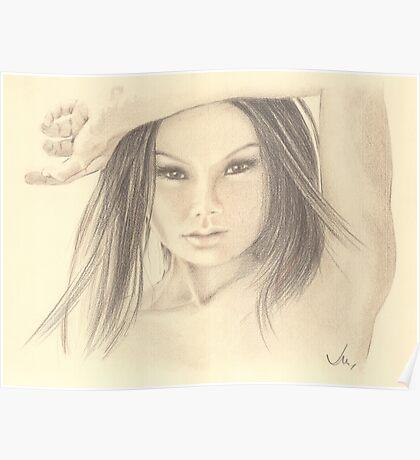 """Those Eyes"" Colour Pencil Artwork Poster"