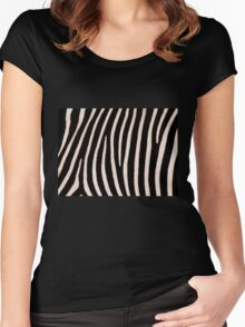 T Shirt Zebra Pattern Women's Fitted Scoop T-Shirt