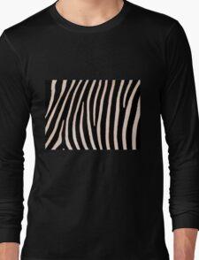 T Shirt Zebra Pattern Long Sleeve T-Shirt