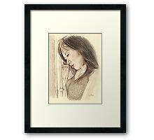 """""""Tina"""" Colour Pencil Artwork Framed Print"""