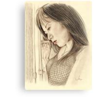 """Tina"" Colour Pencil Artwork Canvas Print"