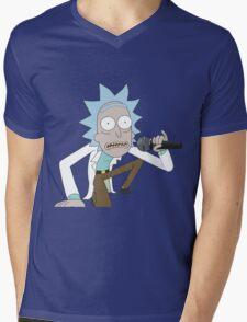 Rick Spits Hot Fire Mens V-Neck T-Shirt