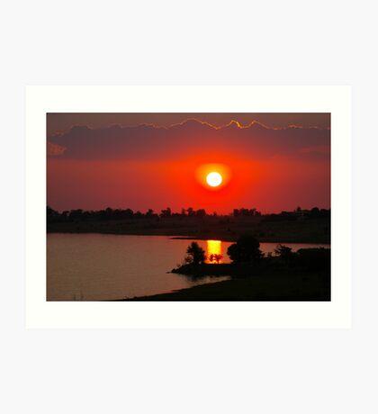 Sunset at Thula Art Print