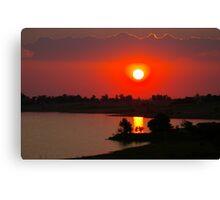Sunset at Thula Canvas Print