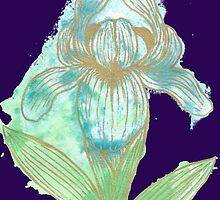 Good News Iris Floriography Inkblot by Inspiredme