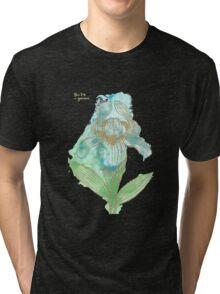 Good News Iris Floriography Inkblot Tri-blend T-Shirt