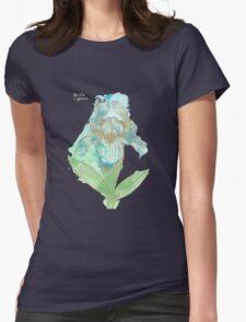 Good News Iris Floriography Inkblot Womens Fitted T-Shirt