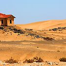 Lonely deserted house in Namib desert. by Rudi Venter