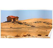 Lonely deserted house in Namib desert. Poster