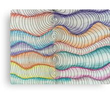 colored pencil freehand coils  Canvas Print