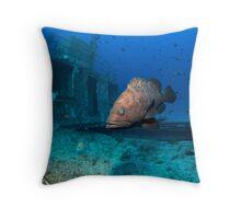 Mediterranean dusky grouper Throw Pillow