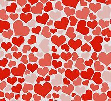 Red Hearts by Bethany-Bailey