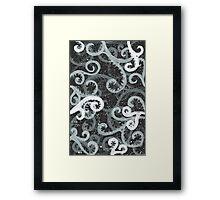 Jet Swirls Framed Print