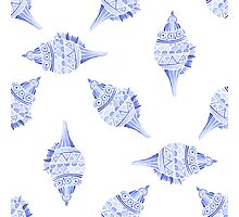 Seashell vector seamless summer pattern Photographic Print