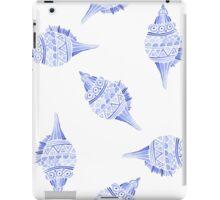 Seashell vector seamless summer pattern iPad Case/Skin