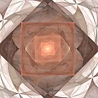 Geometrics in Brown and Gold by Kelly Gammon