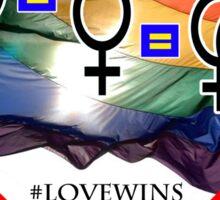 #LoveWins - Love is Love is Love - Now It's Legal Sticker