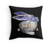 Robbie Rabbit  Copper Glaze Carcoar Throw Pillow