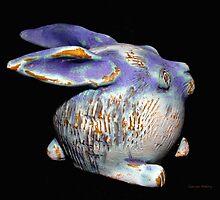 Robbie Rabbit  Copper Glaze Carcoar by CarcoarPottery