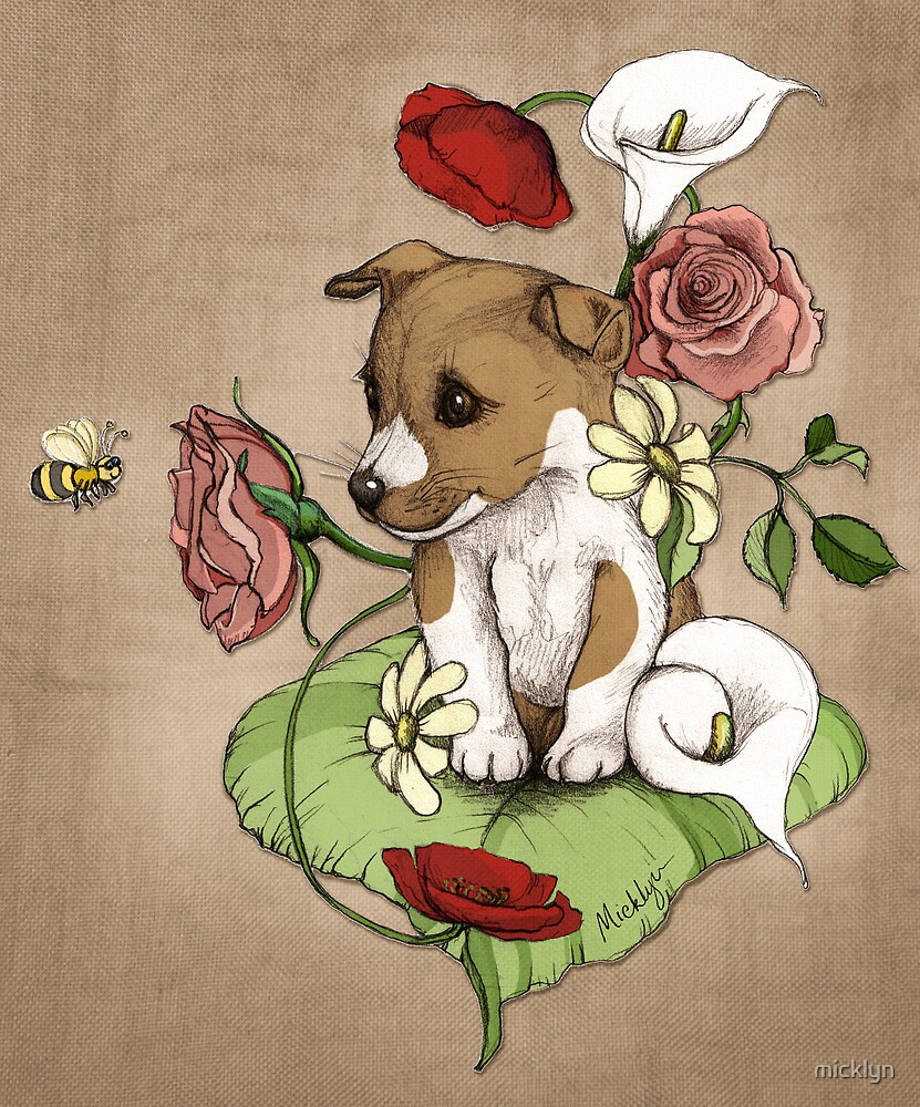 Puppy Posie by micklyn