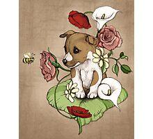 Puppy Posie Photographic Print