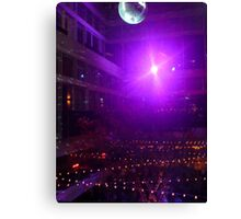 Disco Ball Illuminated Canvas Print
