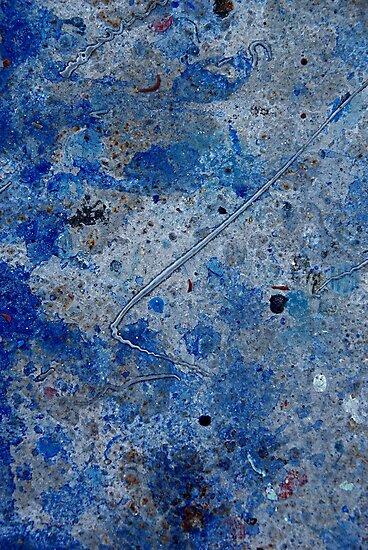 Metal in Abstract ~ Blue by Alixzandra