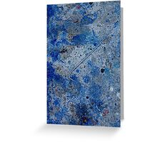 Metal in Abstract ~ Blue Greeting Card