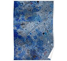 Metal in Abstract ~ Blue Poster