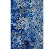 Metal in Abstract ~ Blue Photographic Print