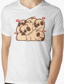 Puglie Grumblie Mens V-Neck T-Shirt