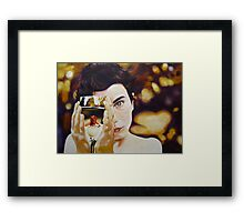 the boy with the sun in his eye.. Framed Print