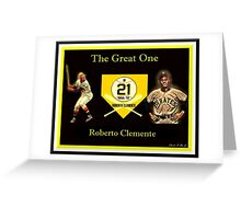 "Roberto Clemente - ""The Great One"" Greeting Card"