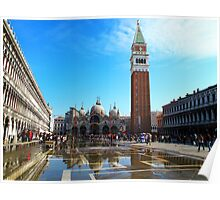 St Marco Square day time, venice, italy Poster