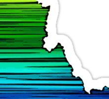 Artistic rainbow Idaho state Sticker