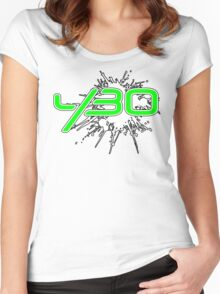 y30 Splat Women's Fitted Scoop T-Shirt