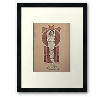 The Girl in the Plastic Dress Framed Print