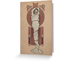 The Girl in the Plastic Dress Greeting Card