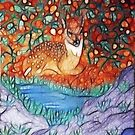 NESTLING FAWN by Tammera