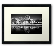 Dublin's Four Courts in black and white Framed Print