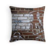 Door Number 2 Throw Pillow