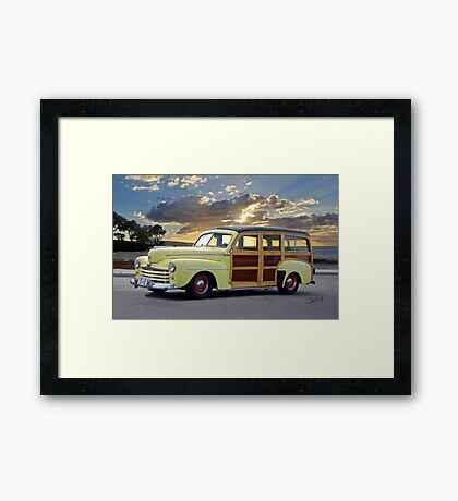 1946 Ford Woody Wagon 'Summer Begins' Framed Print