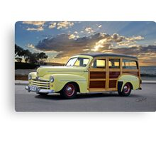 1946 Ford Woody Wagon 'Summer Begins' Canvas Print