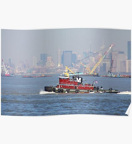 Little Red Tugboat Poster