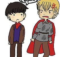 Merlin & Arthur by gingerkatie