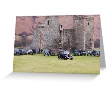 Cars By The Castle Greeting Card