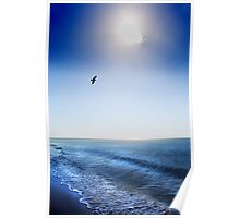 Sun Shade - a solitary cloud obscures the sun  Poster